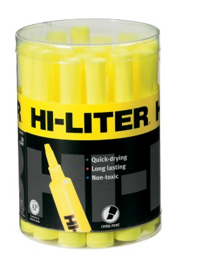 HI-LITER Desk Style Yellow 20-Count Tub 23546