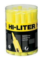 HI-LITER Desk Style Yellow 20-Count Tub