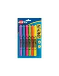 Avery Hi-Liter Pen-Style Highlighters, Assorted Colors