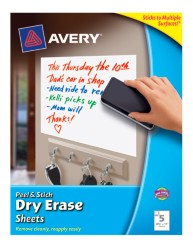 "Avery Dry Erase Sheets 24302, 8-1/2"" x 11"", Packaging Image"
