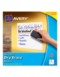 "Avery Dry Erase Sheets 24304, 10"" x 10"", Packaging Image"