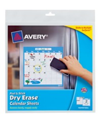 Avery® Peel & Stick Dry Erase Calendar Sheets 24305, Packaging Image