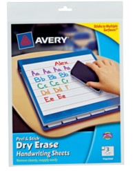 Avery Dry Erase Handwriting Sheets 24306, Packaging Image