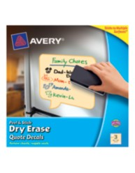 Avery Peel & Stick Dry Erase Quote Decals 24309, Yellow, Packaging Image