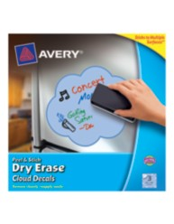 Avery Peel & Stick Dry Erase Cloud Decals 24312, Blue, Packaging Image
