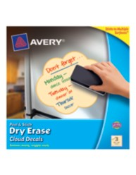 Avery Peel & Stick Dry Erase Cloud Decals 24313, Yellow, Packaging Image