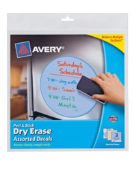 Avery Peel & Stick Dry Erase Decals 24314, Assorted, Packaging Image