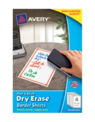 Avery Peel & Stick Dry Erase Sheets 24318, Packaging Image