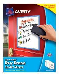 Avery Peel & Stick Dry Erase Sheets 24319, Packaging Image