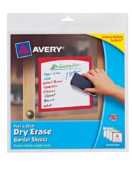 Avery Peel & Stick Dry Erase Sheets 24320, Packaging Image