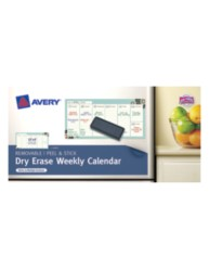 Avery® Dry Erase Weekly Calendar 24378, Packaging Image