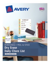 Avery® Dry Erase Daily Chore List 24379, Packaging Image