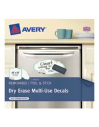 Avery® Dry Erase Multi-Use Decals 24380, Packaging Image