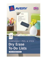 Avery® Dry Erase To-Do Lists 24381, Packaging Image