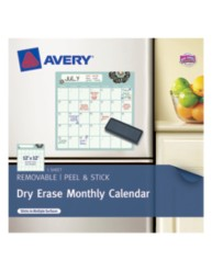 Avery® Dry Erase Monthly Calendar 24384, Packaging Image