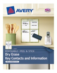 Avery® Dry Erase Key Contacts and Information 24385, Packaging Image