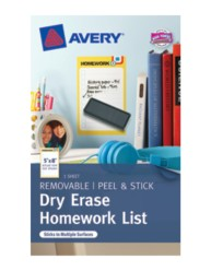 Avery® Dry Erase Homework List 24386, Packaging Image