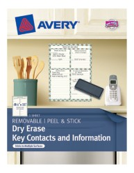 Avery® Dry Erase Key Contacts and Information 24388, Packaging Image