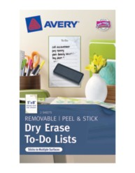 Avery® Dry Erase To-Do Lists 24389, Packaging Image
