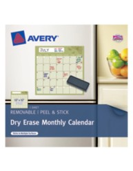 Avery® Dry Erase Monthly Calendar 24396, Packaging Image