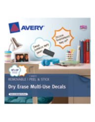 Avery® Dry Erase Multi-Use Decals 24397, Packaging Image