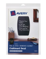"Avery® Chalkboard Decal 24603, 7-1/2"" x 11-1/2"", Packaging Image"