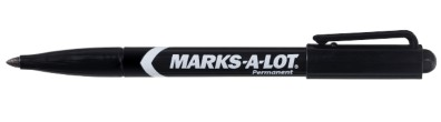 Marks-A-Lot® Fine Point Permanent Markers 29857, Black, Pack of 12