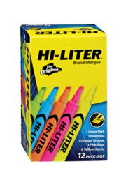 HI-LITER® Desk-Style Highlighters 98034, Packaging Image