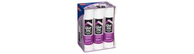 Avery® Glue Stic™ Disappearing Purple Color, Washable, Nontoxic, 1.27 oz., Pack of 6 (98071)