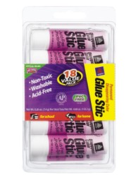 Avery® Disappearing Color Permanent Glue Stic 98079, Packaging Image