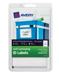 Avery® Professional Grade Self-Laminating ID Labels 00745