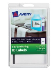 "Avery® Professional Grade Self-Laminating ID Labels 00746, Handwrite, 3-3/4"" x 2-3/4"", Gray Border, Pack of 8"