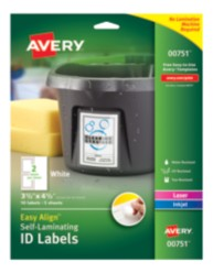 Packaging, Self-Laminating ID Labels, 00751