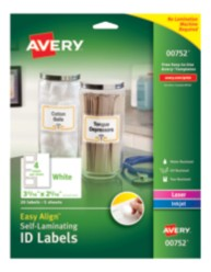 Packaging, Self-Laminating ID Labels, 00752