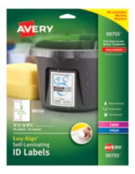 Packaging, Self-Laminating ID Labels, 00755