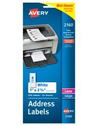 White Mini-Sheet Mailing Labels