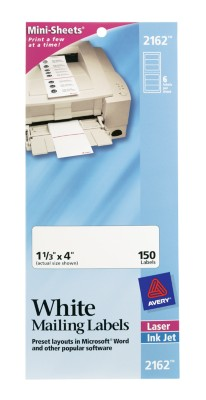 White Mini-Sheet Mailing Labels 2162