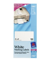 White Mini-Sheet Mailing Labels