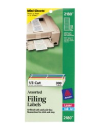 Filing Mini-Sheet Labels