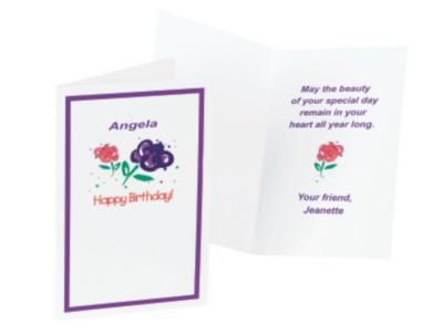 Personalized Birthday Cards – Say It with Flowers