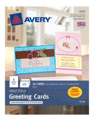 Avery Half-Fold Greeting Cards 3265 Packaging Image