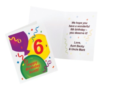 Personalized Birthday Cards – Birthday Balloons