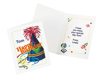 Personalized Birthday Cards – Hats and Streamers