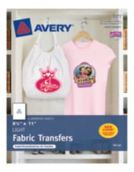 Avery Light Fabric Transfers 3271 Packaging Image
