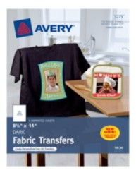 Avery Dark Fabric Transfers 3279 Packaging Image