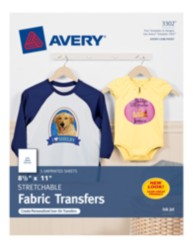 Avery Stretchable Fabric Transfers 3302 Packaging Image