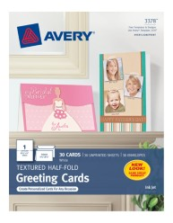 Avery Half-Fold Greeting Cards 3378 Packaging Image
