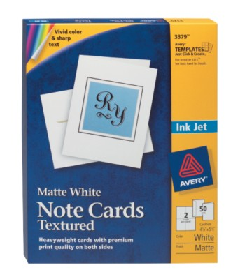 Ink Jet Textured Note Cards 3379