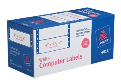 White Mailing Labels 4014