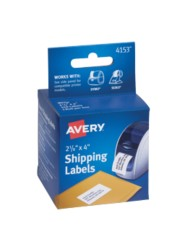 Avery® Shipping Labels for Dymo® and Seiko® Printers 04153, Packaging Image